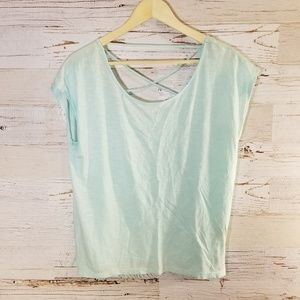 GAP light blue cross back short sleeve